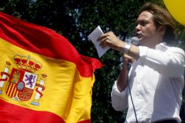 Jorge Campos, en una manifestación contra el catalán