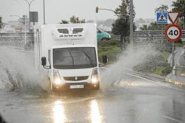 Fuertes lluvias en las Pitiusas