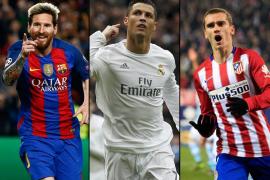 Cristiano, Griezmann y Messi están entre los candidatos a mejor jugador de la FIFA