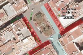 Santa Eulària modifica el tráfico de Isidoro Macabich por las obras de peatonalización