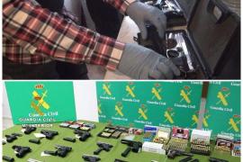 Treinta detenidos en varias provincias de una red que vendía ilegalmente armas de fuego