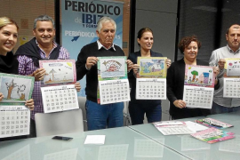 Los niños con cáncer, protagonistas del calendario del Grupo Prensa Pitiusa