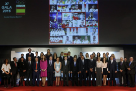 Entrega de las medallas de oro del COE a los deportistas que se proclamaron campeones olímpicos en Río