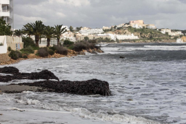 Los efectos del temporal en Platja d'en Bossa