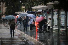 Las intensas precipitaciones continuarán este martes en Baleares
