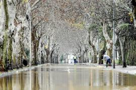 Cortes de vías y caminos en Sant Antoni, sumergido en el caos