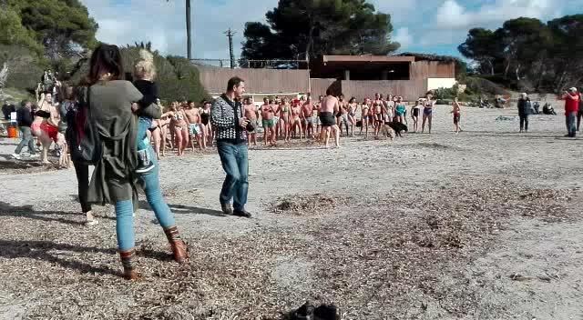 Primer chapuzón del 2017 en Ibiza