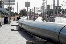 Las obras del emisario de Talamanca en el puerto se alargarán hasta marzo