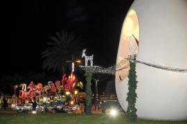 Fuegos artificiales para recibir a los Reyes Magos en Sant Antoni