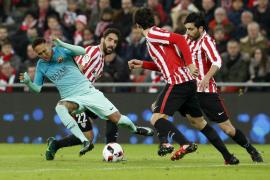 El Barcelona se queda a medias en su remontada ante el Athletic