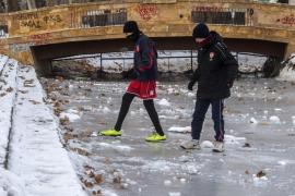 El frío siberiano congela a media Europa