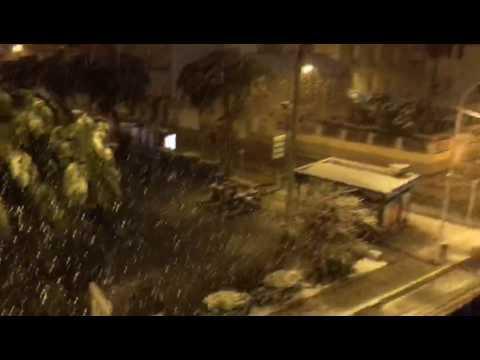 La nieve cubre la costa en Dénia y Xàbia