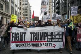 Detienen a más de 200 personas durante las protestas contra la investidura de Trump