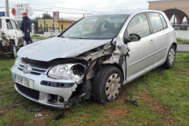 Tres conductores heridos en una jornada con cuatro aparatosos accidentes en Ibiza
