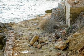 Santa Eulària pide el arreglo «urgente» del desprendimiento de la costa por el temporal