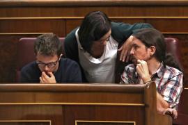 Íñigo Errejón, Carolina Bescansa y Pablo Iglesias