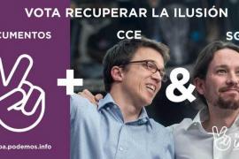 «Emoción» en el acto de Iglesias e «ilusión» con Errejón en su arranque de campaña para Vistalegre