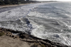 Fuertes rachas de viento azotaron las Pitiüses