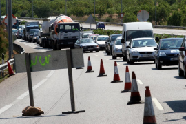 La autopista de Inca sufrirá cortes la próxima semana a causa de las obras del tercer carril