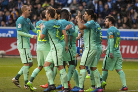 El Barça se da un festín de goles ante el Alavés