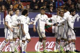El Real Madrid salda su visita a Pamplona con una ajustada victoria