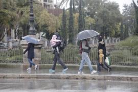 Las lluvias protagonizarán el inicio de la semana en Baleares
