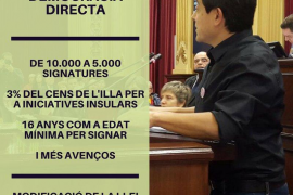 El Parlament estudiará una proposición de ley para facilitar la iniciativa legislativa popular