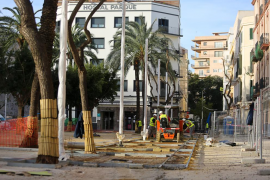 Obras Plaza del Parque en Vila.