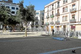 Las terrazas y negocios de la plaza del Parc reabrirán a finales de este mes