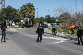 Accidente de tráfico en la avenida Ignasi Wallis