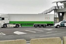 Inmovilizado en es Botafoc un camión con 90.000 geranios que iba a Barcelona