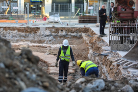 Cimientos de un hotel en Ibiza