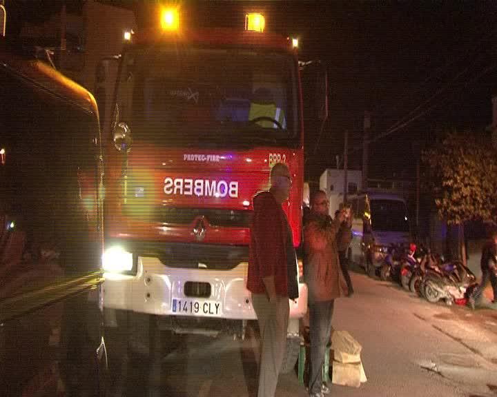 Aparatoso accidente en el centro de Sant Francesc