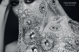 Gigi Hadid se cubre con un velo bordado para la primera portada de Vogue Arabia