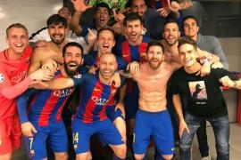 La peineta de Mathieu y el baño de Gaspart, fotos virales de la épica remontada del Barça ante el PSG