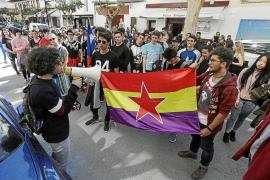 Alto seguimiento de la huelga de la enseñanza entre los estudiantes de Ibiza