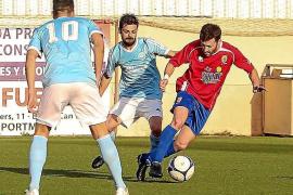 Adrián mantiene al Portmany líder con un gol 'in extremis'