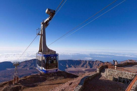 Una avería en el teleférico del Teide deja atrapadas a 60 personas