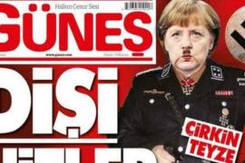 Un diario turco presenta a Angela Merkel como 'Frau Hitler'