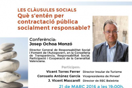 Josep Ochoa Monzó protagoniza en Ibiza la conferencia sobre responsabilidad social corporativa