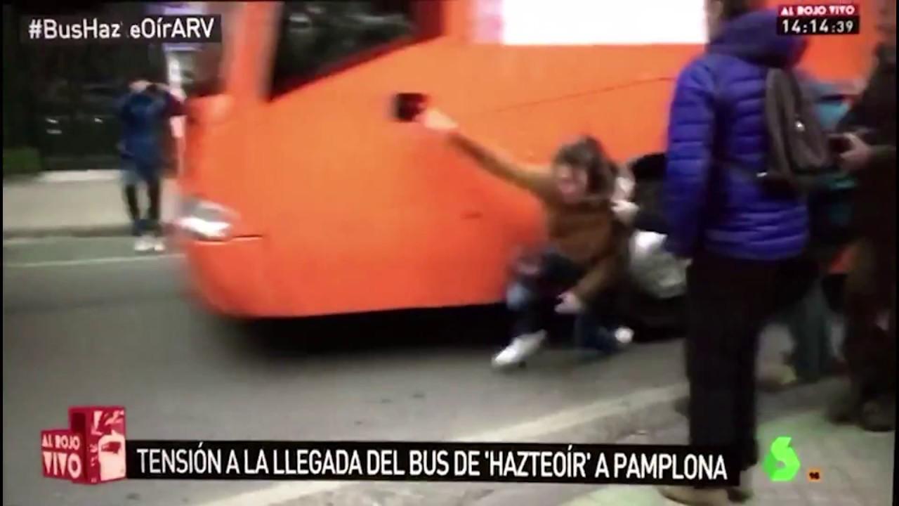 Hazte Oír lamenta el atropello a una joven con una rueda del autobús en Pamplona