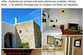 Airbnb anuncia más de 2.500 pisos y 'camas' para alquilar en Ibiza sin licencia
