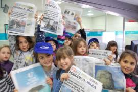 Alumnos del CEIP Sant Antoni visitan las instalaciones del Grupo Prensa Pitiusa