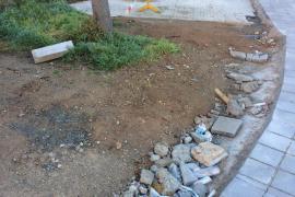 Escombros tras realizar una obra