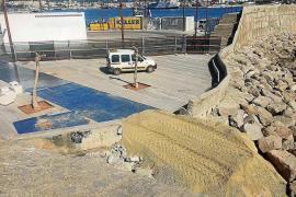 Comienzan a construir el acceso a la playa de sa Penya para proteger los acantilados