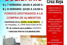 Sirenis y Cruz Roja organizan un mercadillo solidario en Santa Eulària