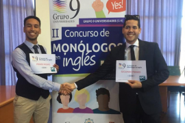 Un alumno de la UIB gana un concurso de monólogos en inglés del Grupo 9