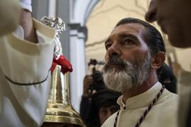 Antonio Banderas se reencuentra con su Virgen de Málaga