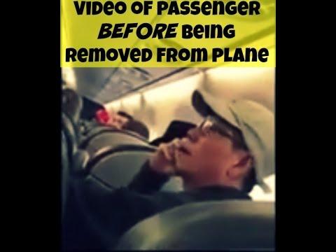 Nuevas imágenes muestran los momentos previos a la expulsión por la fuerza de un pasajero