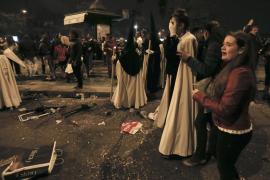 Ocho detenidos por causar el pánico en la 'Madrugá' de Sevilla